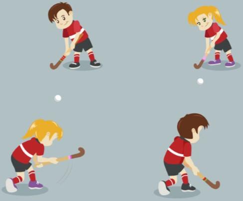 Hockey og Leg tegning 3