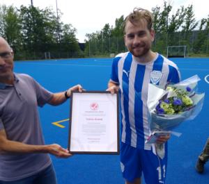 Tobias Grand, Københavns Hockeyklub modtager Ildsjæleprisen 2019